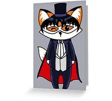 Tuxedo Fox Greeting Card