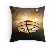Interesting Ceiling Lamp At the Parsippany Hilton Throw Pillow