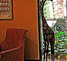 Giraffe Sculpture at Parsippany Hilton by Jane Neill-Hancock