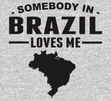 Somebody In Brazil Loves Me Kids Tee