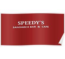 BBC Sherlock Speedy's Cafe - Inspired Logo Poster