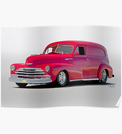 1947 Chevrolet Stylemaster Delivery Sedan Poster