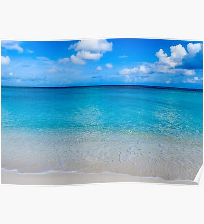 Clouds, sea, sand. Poster