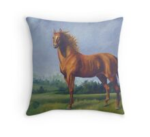 Man O'War Racehorse Throw Pillow