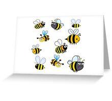 Bumblebees Greeting Card