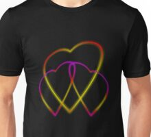 Glowing Hearts Unisex T-Shirt