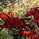 Ichabod and the Headless Horseman Sculpture, October 2009, Sleepy Hollow NY by Jane Neill-Hancock