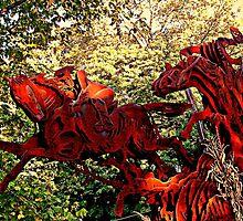 Ichabod and the Headless Horseman Sculpture, October 2009, Sleepy Hollow NY by Jane Neill-Hancock