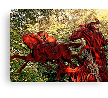 Ichabod and the Headless Horseman Sculpture, October 2009, Sleepy Hollow NY Canvas Print