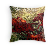 Ichabod and the Headless Horseman Sculpture, October 2009, Sleepy Hollow NY Throw Pillow