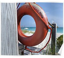 Looking through the lifebuoy. Poster