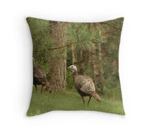 Holy Hill Turkeys Throw Pillow