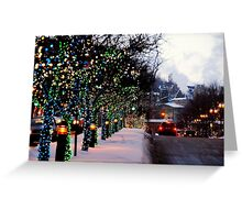 Montreal, Quebec, Canada - Christmas Holidays on Mc Gill. Greeting Card