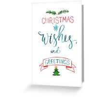 Сhristmas wishes watercolor illustration Greeting Card