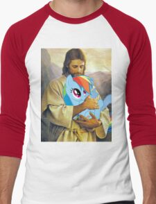 Jesus Loves Rainbow Dash Men's Baseball ¾ T-Shirt