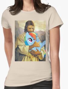 Jesus Loves Rainbow Dash Womens Fitted T-Shirt