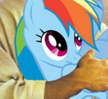 Jesus Loves Rainbow Dash Sticker
