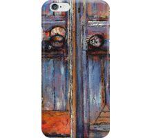 Blue Door, Chania, Crete iPhone Case/Skin