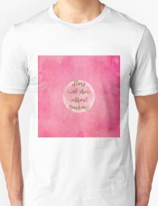 """""""Stars can't shine without darkness"""" quote pink shining watercolor abstract paint T-Shirt"""