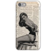 Pin up girl iPhone Case/Skin