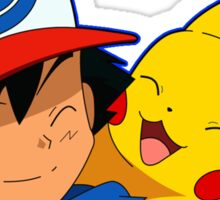Pikachu and Ash Sticker