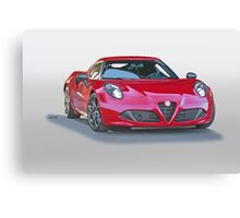 2015 Alfa Romeo C4 Coupe Canvas Print