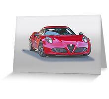 2015 Alfa Romeo C4 Coupe Greeting Card