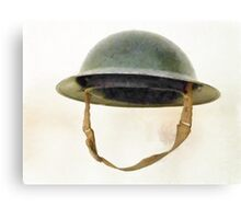 The British Brodie Helmet  Canvas Print