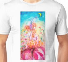 ALTHEA /Whimsical Fairy on the Pink Flower Unisex T-Shirt