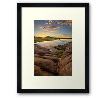 Down To Sunset Framed Print