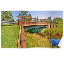 Bridge at Buck Lake Poster