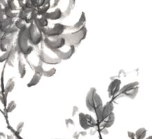 Golden dragon Chrysanthemum sumi-e painting Sticker