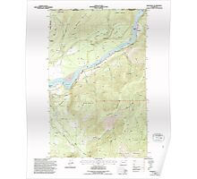 USGS Topo Map Washington State WA Boundary 240177 1992 24000 Poster