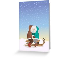 Eskimo kiss Greeting Card