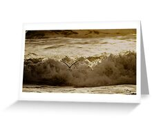 Bird Over Troubled Waters Greeting Card