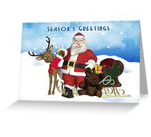 Season's Greetings Christmas Holiday Card Greeting Card