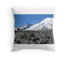 Mt. Rainier from First Burroughs Mountain 2014 Throw Pillow