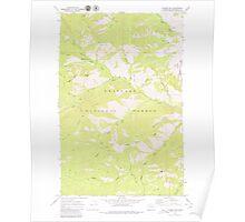 USGS Topo Map Washington State WA Hungry Mtn 241614 1968 24000 Poster
