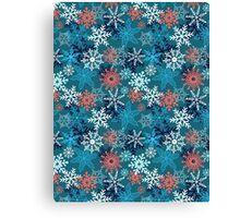 Multi-colored snowflakes form   Canvas Print