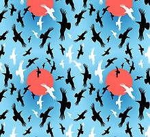 Flocks of crows circling   by Tanor
