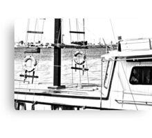 boat (b&w) Canvas Print