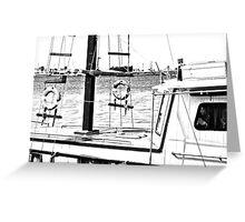boat (b&w) Greeting Card