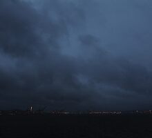 Seattle at dusk by deanobrien