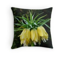 Imperial Crown Flower Plant Yellow Throw Pillow