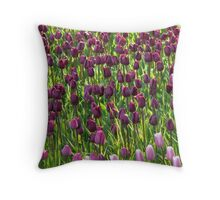 Tulip Field Tulips Violet Dark Purple Purple Throw Pillow