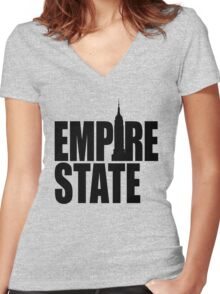 EMPIRE STATE - New York City Women's Fitted V-Neck T-Shirt
