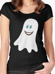 A Spooky Ghost T-shirt, etc. design Women's Fitted Scoop T-Shirt