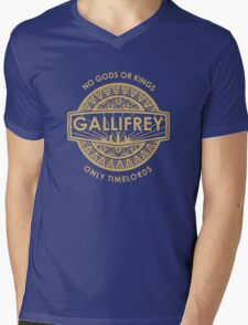 Gallifrey - No Gods or Kings, only Timelords Mens V-Neck T-Shirt