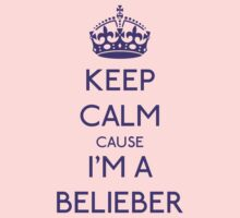 Keep calm cause I'm a BELIEBER (purple) by GraceMostrens