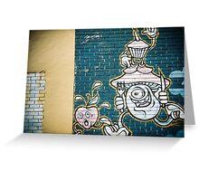 Street art off Gertrude St, Fitzroy Greeting Card